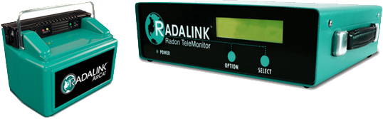Radalink Aircat and Telemonitor Radon Monitors